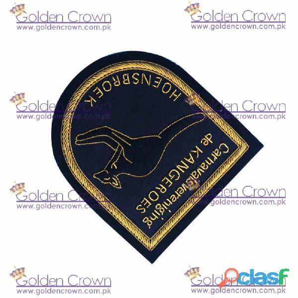 Hand embroidered bullion badges