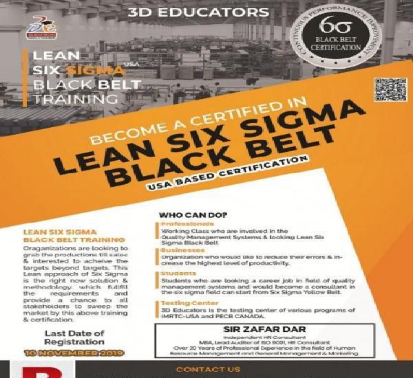 Lean six sigma black belt training