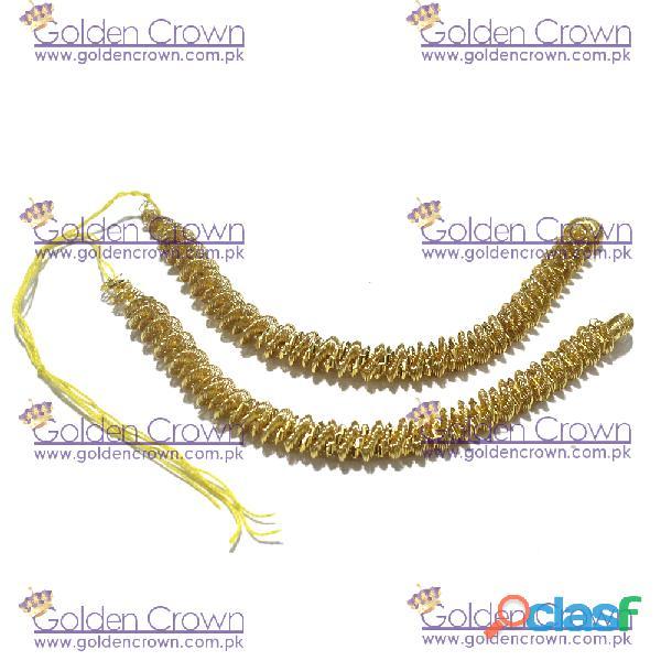 Gold Metallic Bullion Fringe Caterpillar 4