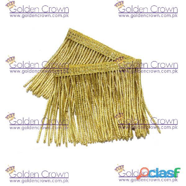 Golden Bullion Wire Fringe Supplier and Manufacturers