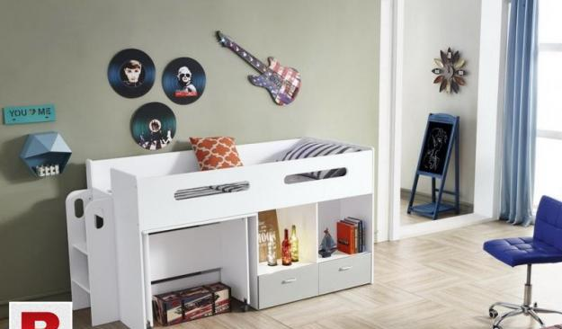 Stylish Bunk Bed with Shelf