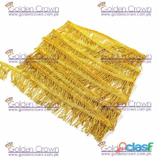 Gold Mylar Thread Fringe