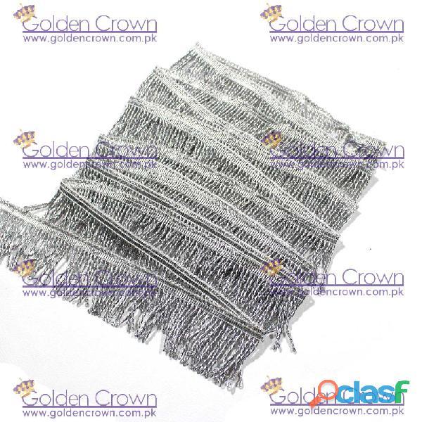 Silver Thread Mylar Fringe
