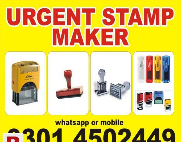 Urgent stamp maker