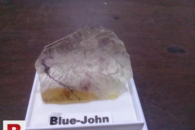 Blue john antique stone