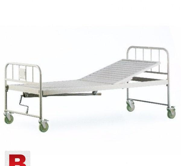 Hospital bed single crank