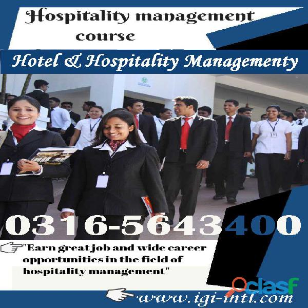 Hotel & Hospitality Management Online Diploma Course in Islamabad O3165643400