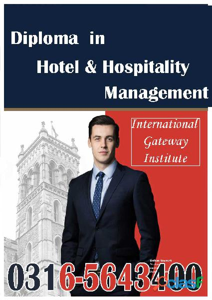 Hotel & Hospitality Management Online Diploma Course in Islamabad O3165643400 2