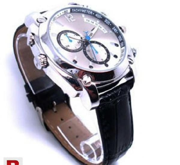 HD 1080P SPY Watch Camera Night Vision with leather strap