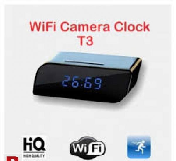 Hidden camera wifi table clock 1080p