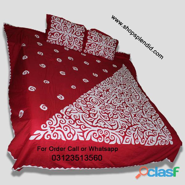 Aplic bed sheet design hand work
