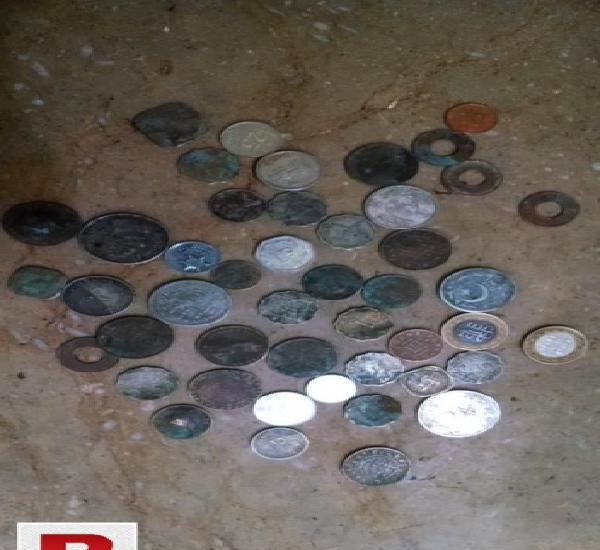 Antique old coins from different countries