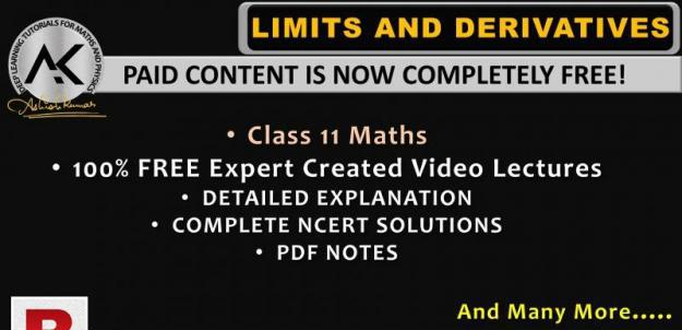 Ncert chapter 13 limits and derivatives class 11 maths