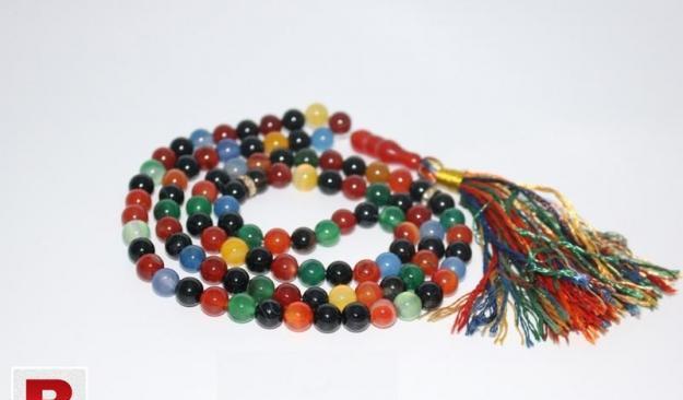 Multicolour aqeeq tasbeeh 101 beads 5mm