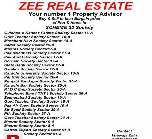 Zee real estate scheme 33 society