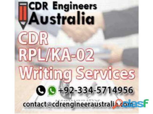 CDR , RPL , KA 02 WRITING SERVICES
