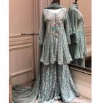 Pakistani chiffon bridal dresses by sumaiya's style, karachi