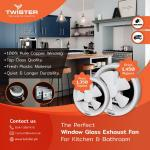 Twister window glass exhaust fan 8″ 6 in rāwalpindi,