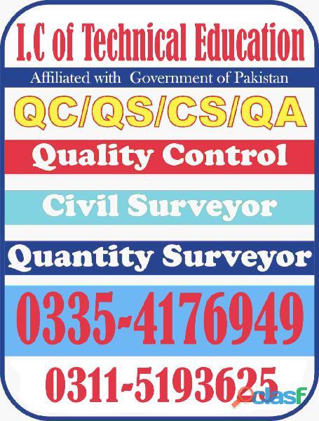 Government Diploma in Quantity surveyor (theory&Field work) course rawalpindi islamabad 3354176949 6