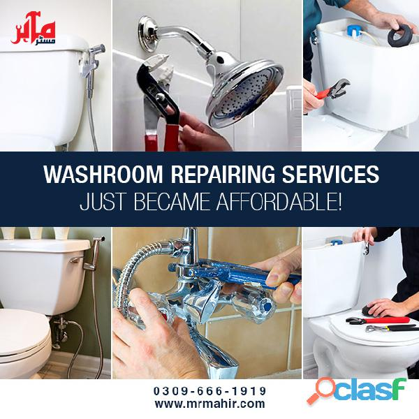 Washroom repairing services