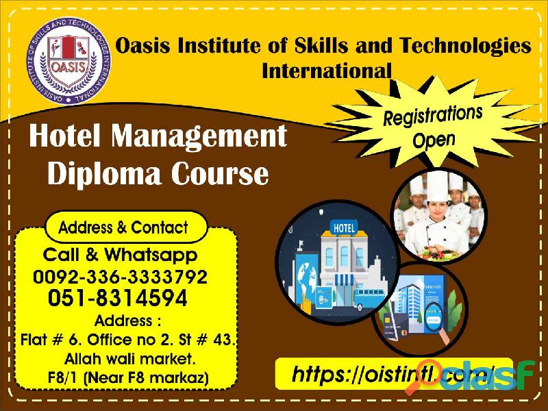 Hotel management diploma course for kuwait