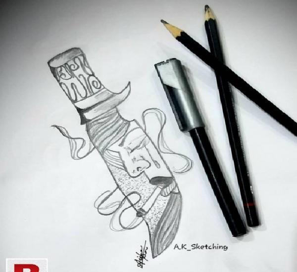 Pencil sketch art.