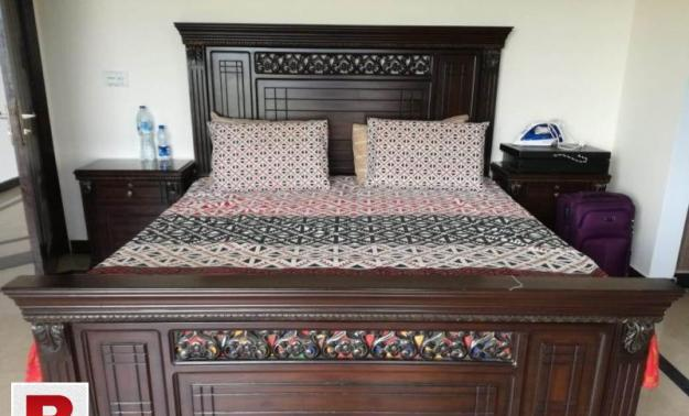 Master bed set with mattress, side tables & dressing table