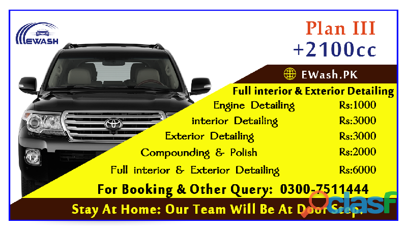 ewash provide exterior & interior car wash service in islamabad & Rawalpindi 2