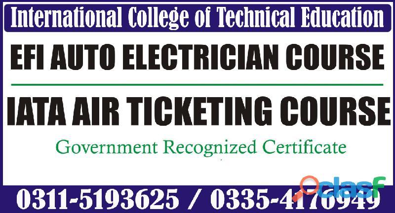 Scanner efi auto electrician (theory+practical) course in rawalpindi islamabad chakwal kharian