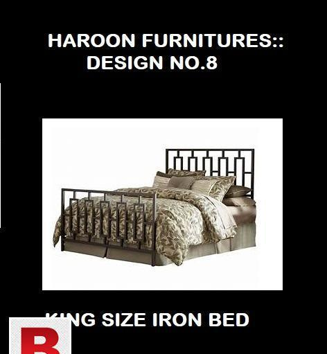 Durable quality iron king size bed design no.8 decent and