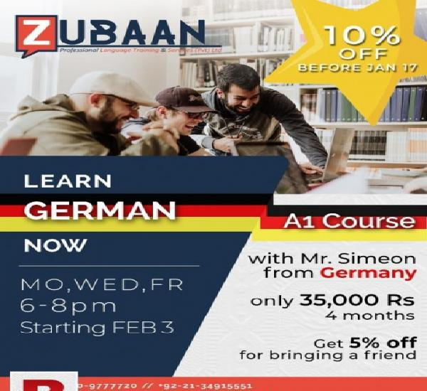 German a1 course with german native teacher