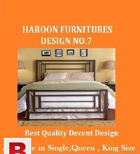 Decent iron bed available in stock, buy now pay in six
