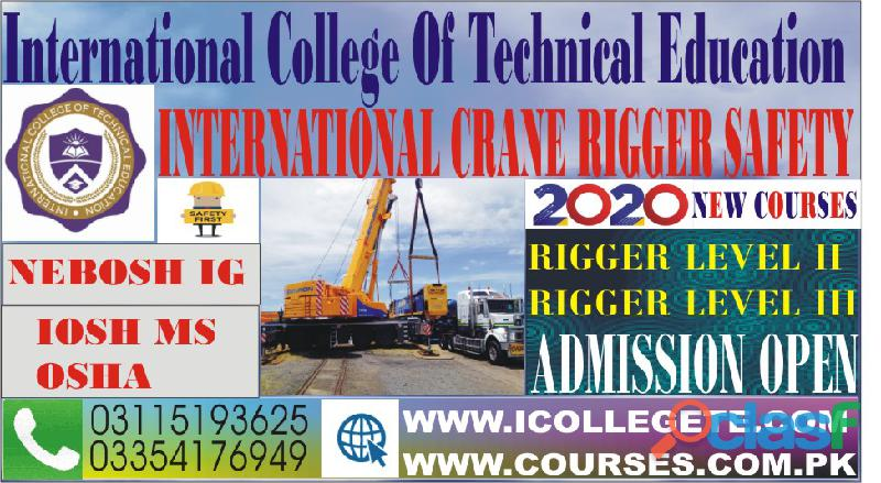 Qualified Rigger Level 1 Training course in rawalpindi pakistan 03115193625 3