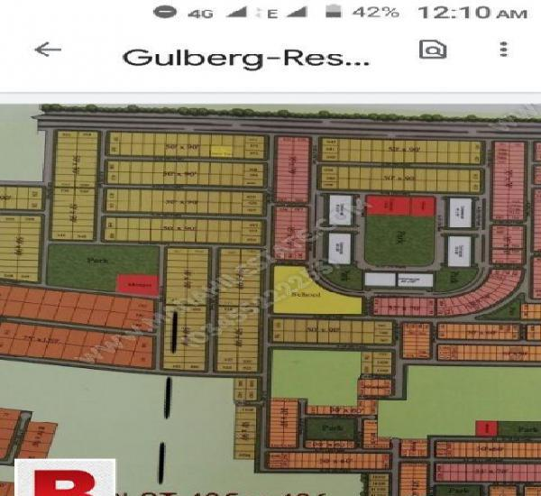 One kanal corner plot for sale gulberg islamabad