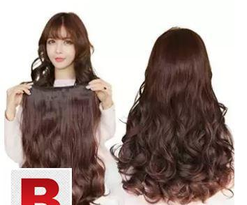 Easy wear wavy one piece hair extension 5 clips