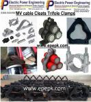 Cable cleats trefoil cable clamps, lahore