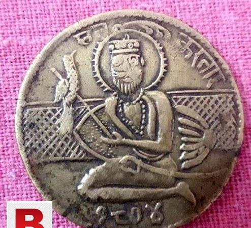 Indian antique golden old coin of 1804