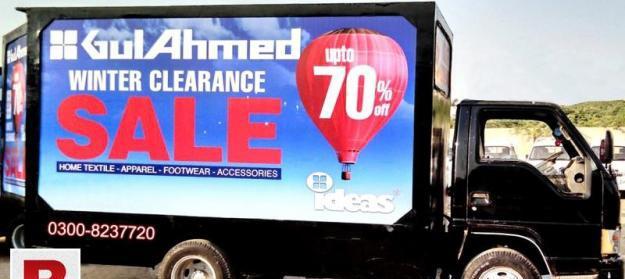 Backlit van outdoor advertising services karachi