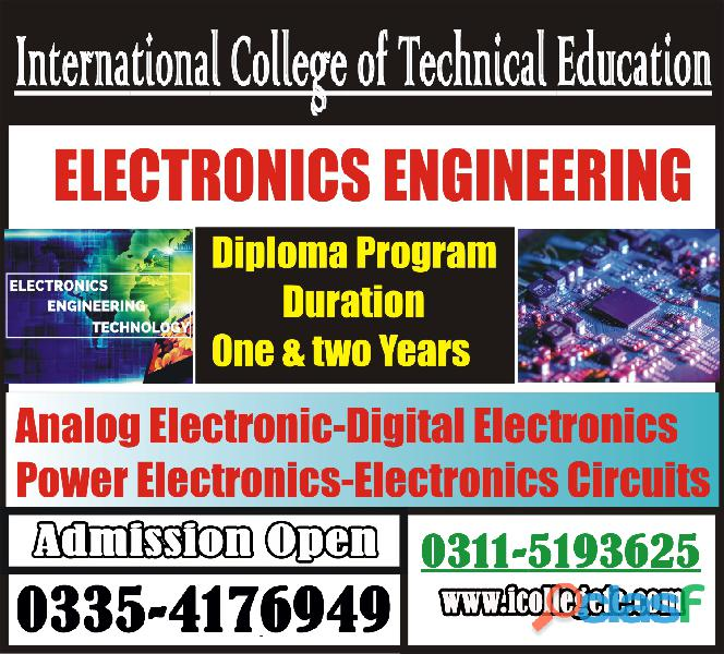 Electrical technician competency experienced based one year diploma course in rawalpindi