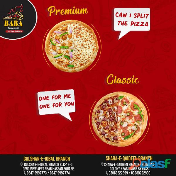 Baba pizza (premium and classic