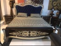 Emilie queen bed, dresser, and mirror by revive furniture,