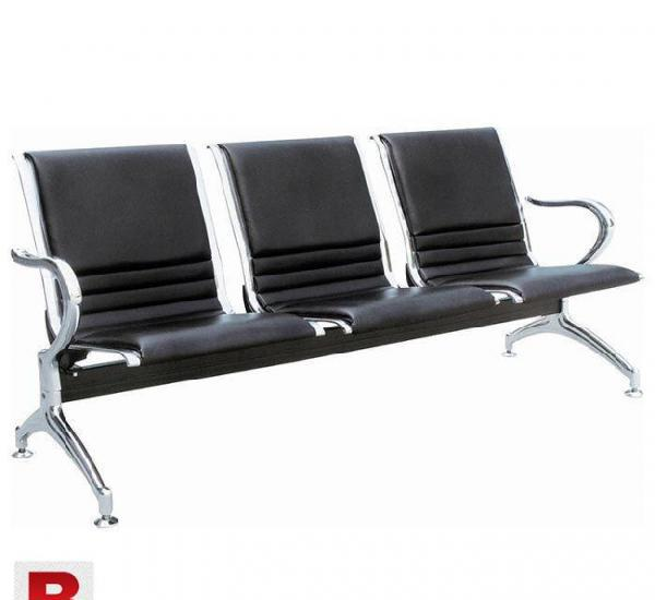 Best Quality Iron and Leather made Waiting chair in low
