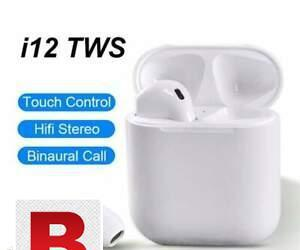 I12 earpiece pop up bluetooth earphones touch control