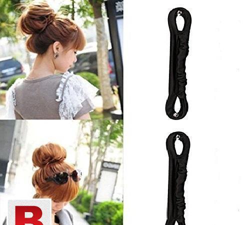 Fireboomoon magic clip french twist hairstyle donut clip