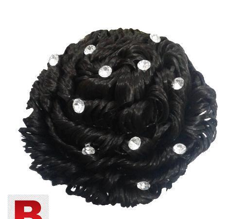 Hair Clamp Buns For Women With Stone