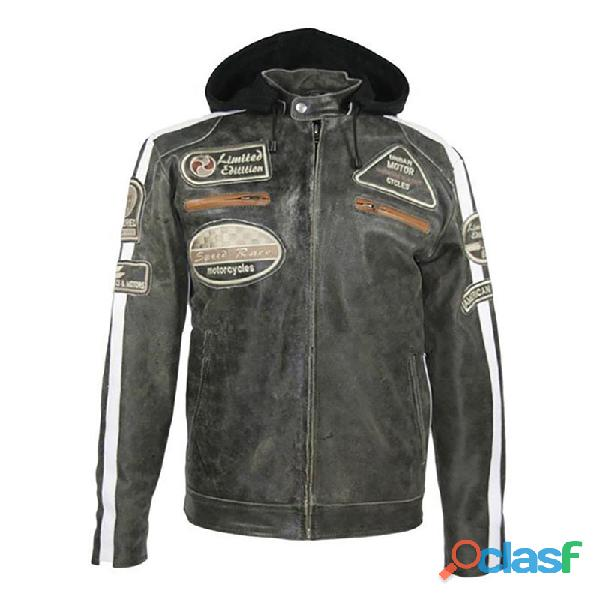 Leather biker fashion jackets for gents