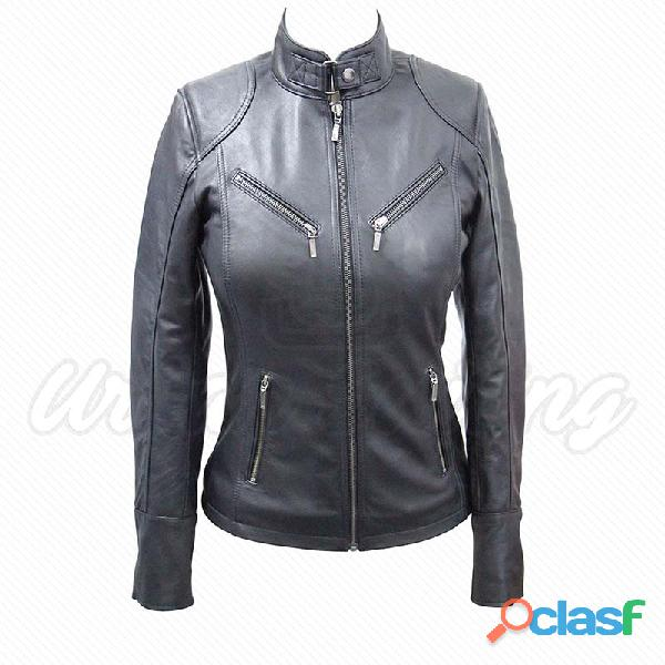 leather biker fashion jackets for ladies fur jackets 5