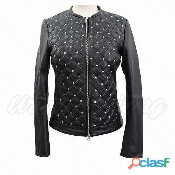 leather biker fashion jackets for ladies fur jackets 7