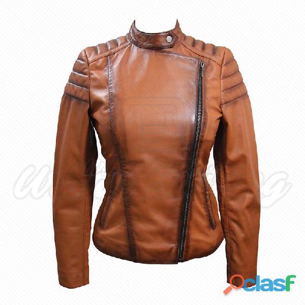 leather biker fashion jackets for ladies fur jackets 9