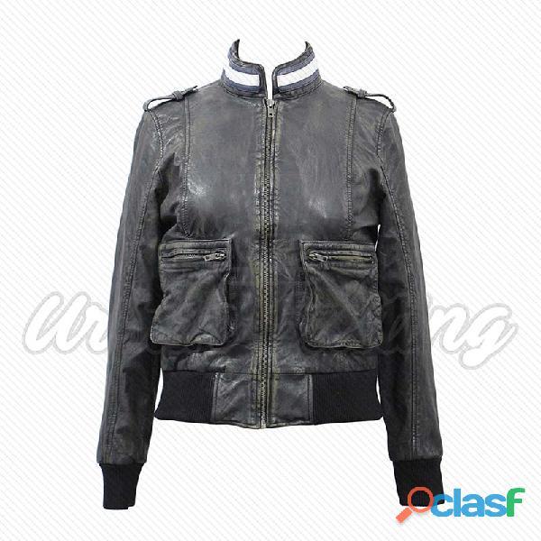 leather biker fashion jackets for ladies fur jackets 10